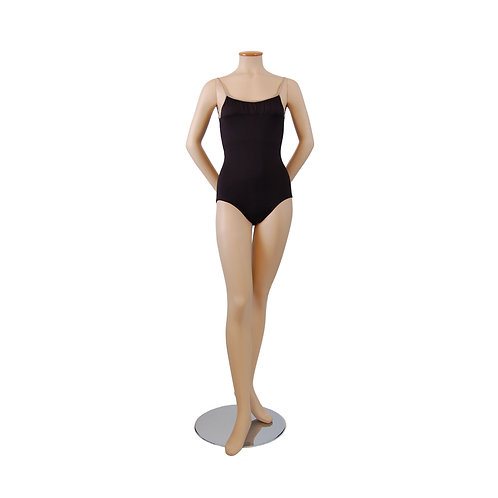 Poly Camisole Leotard with Front Gathered Neckline Detail