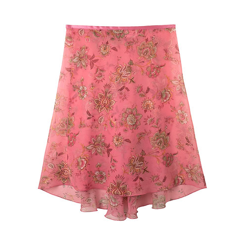 "Trienawear Ballet Dance Skirt #905 Bellezza front view, 23"" wrap with satin ribbon tie"