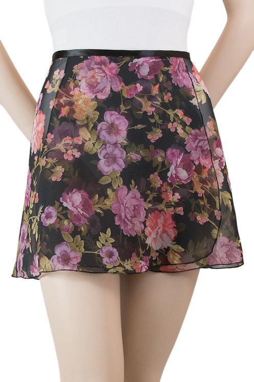 "Trienawear #872 Brio 14"" floral wrap ballet skirt - front"