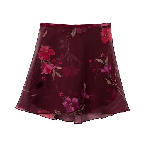 """Trienawear TR200S-FL 14"""" floral wrap ballet skirt #889 Semplicimente - front"""