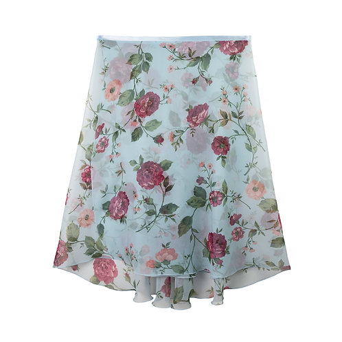 """Trienawear Ballet Dance Skirt #908 Clássica front view, 23"""" wrap with satin ribbon tie"""