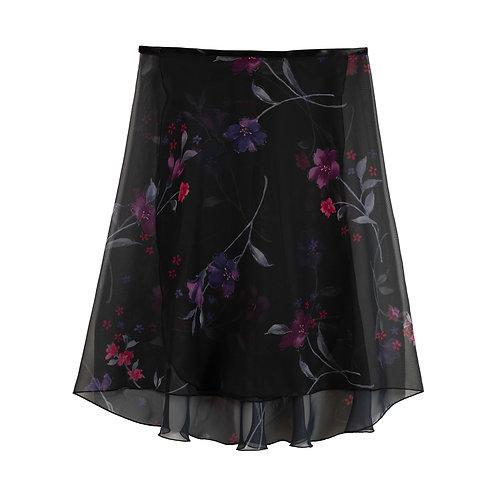 """Trienawear TR200L-FL 23"""" floral wrap ballet skirt #886 Semplicimente - front"""