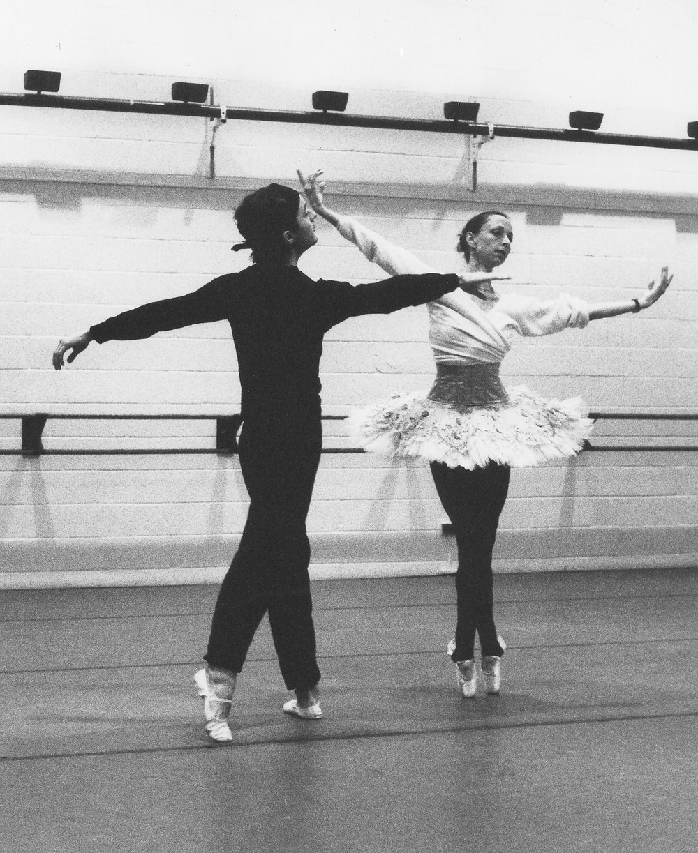 Mary Beth Budd and William Prouty rehearsing the Grand Pas de Deux from The Nutcracker