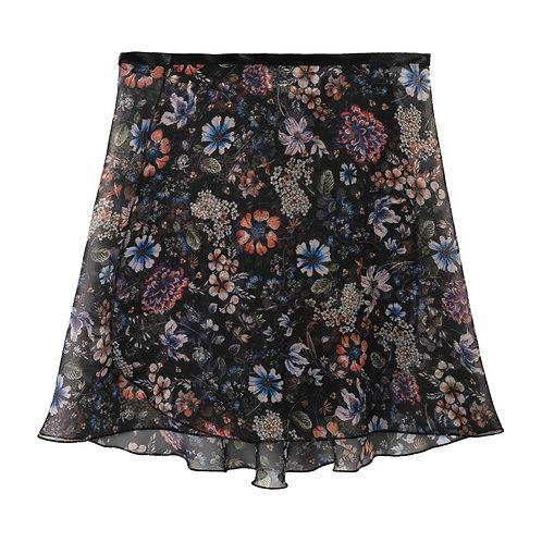 """Trienawear Ballet Dance Skirt #909 Celebração front view, 14"""" wrap with satin ribbon tie"""