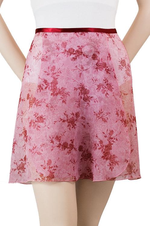 "Trienawear #869 Divertimento 16"" floral wrap ballet skirt - front"