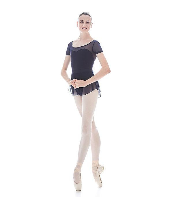 Beautiful, elegant and feminine ballerina Breana Drummond wearing her favorite Trienawear ballet leotard and skirt
