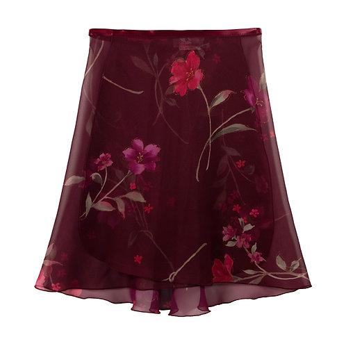 """Trienawear TR216FL 16"""" floral wrap ballet skirt #889 Semplicimente - front"""