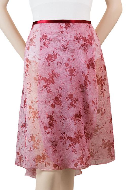 "Trienawear #869 Divertimento 23"" floral wrap ballet skirt - front"