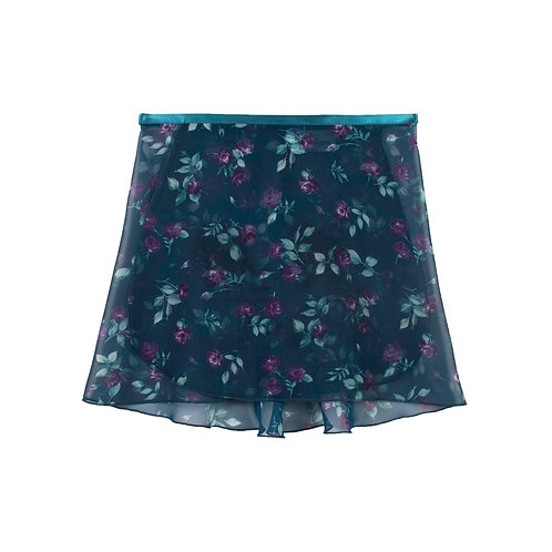 """Trienawear Ballet Dance Skirt #917 Charming front view, 12"""" wrap with satin ribbon tie"""