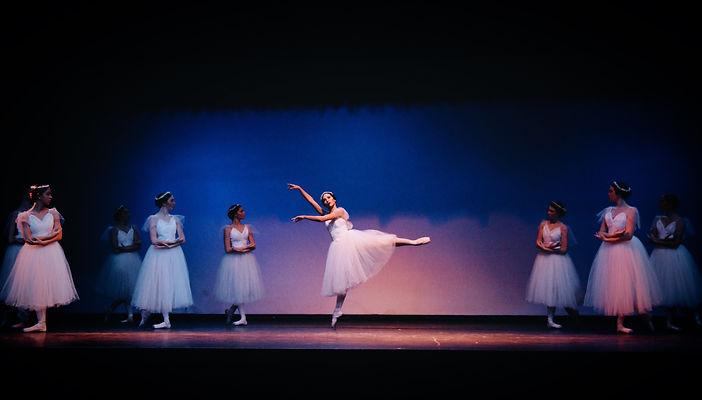 Beautiful, elegant, feminine Trienawear ballerina ambassador Mercedes Lozano in the ballet Giselle
