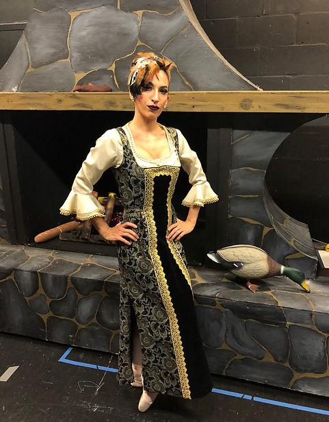 Beautiful, elegant Trienawear ballerina ambassador Mercedes Lozano as the step-mother in Brandon Ballet's Cinderella