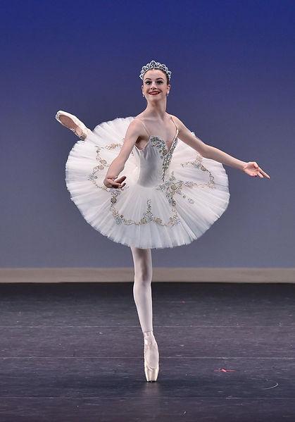 Beautiful, elegant Trienawear ballerina Breana Drummond performing Aurora's wedding variation from the Sleeping Beauty ballet