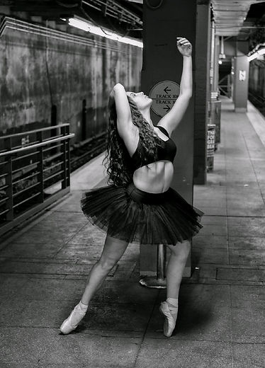 Beautiful, elegant, modern, feminine Trienawear ballerina ambassador, Natalie Jessie, ballet photo shoot New York City