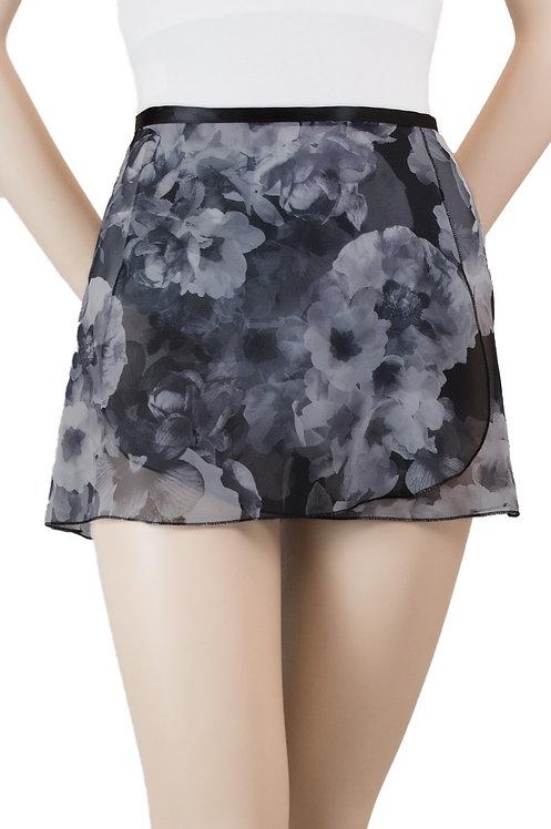 """Trienawear #871 Bourée 12"""" floral wrap ballet skirt - front"""