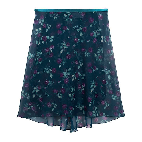 """rienawear Ballet Dance Skirt #917 Charming front view, 16"""" wrap with satin ribbon tie"""