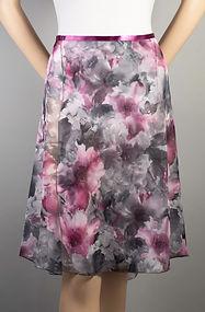 "Trienawear Ballet Dance 23"" Wrap Skirt with satin ribbon waist tie, Style TR200L-FL, Front View, Floral Print #913 Toccata Plum"