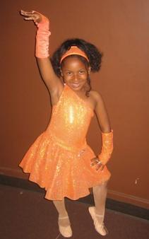 Beautiful, feminine, elegant Trienawear ballerina Sage Sarai when she was 5