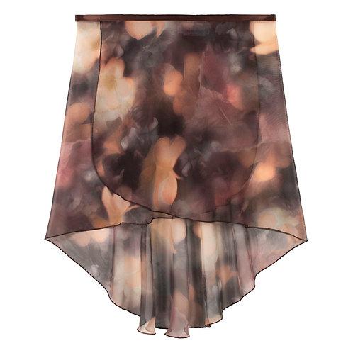Trienawear Ballet Dance Skirt #920 Dreamy front view, hi lo wrap with satin ribbon tie