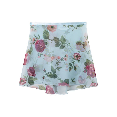 """Trienawear Ballet Dance Skirt #908 Clássica front view, 12"""" wrap with satin ribbon tie"""