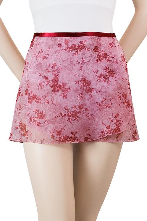 "Trienawear #869 Divertimento 12"" floral wrap ballet skirt - front"
