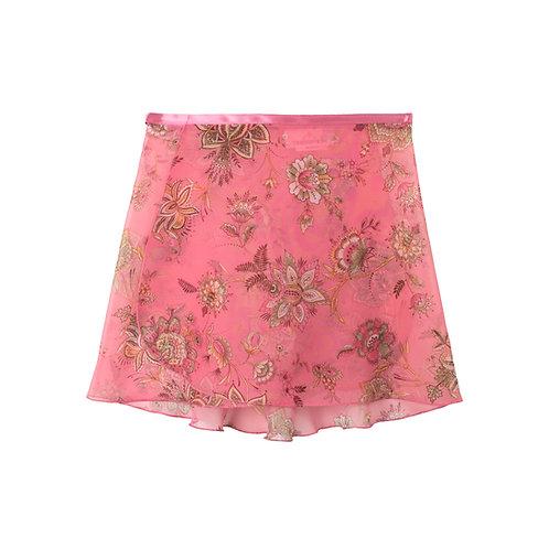 "Trienawear Ballet Dance Skirt #905 Bellezza front view, 12"" wrap with satin ribbon tie"