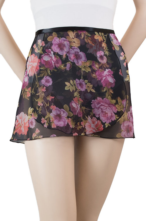"Trienawear #872 Brio 12"" floral wrap ballet skirt - front"