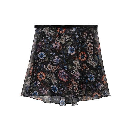 """Trienawear Ballet Dance Skirt #909 Celebração front view, 12"""" wrap with satin ribbon tie"""