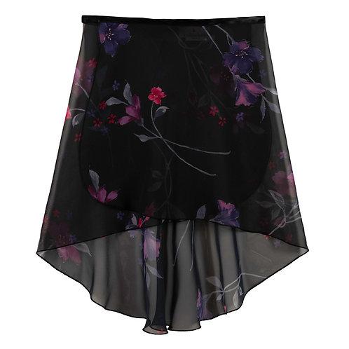 Trienawear TR200FL hi lo floral wrap ballet skirt #886 Semplicimente - front