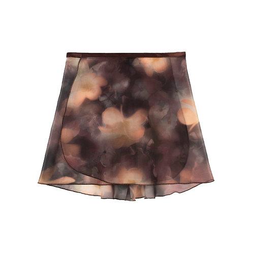 "Trienawear Ballet Dance Skirt #920 Dreamy front view, 12"" wrap with satin ribbon tie"