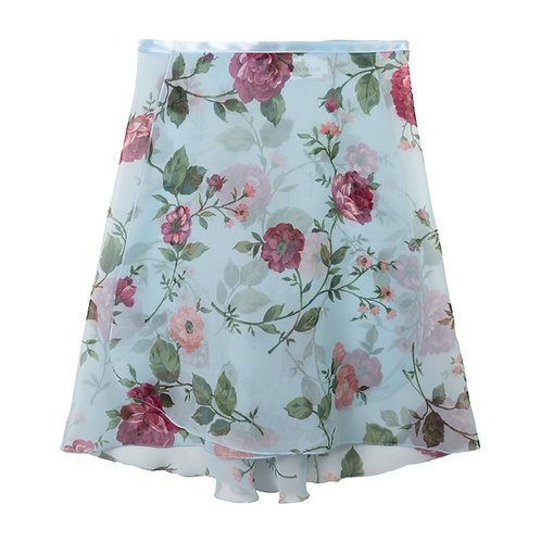 """Trienawear Ballet Dance Skirt #908 Clássica front view, 16"""" wrap with satin ribbon tie"""