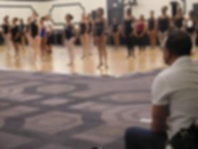 Beautiful Trienawear ballerina Sage Sarai participating in IABD Ballet Masterclass with Dance Theater of Harlem