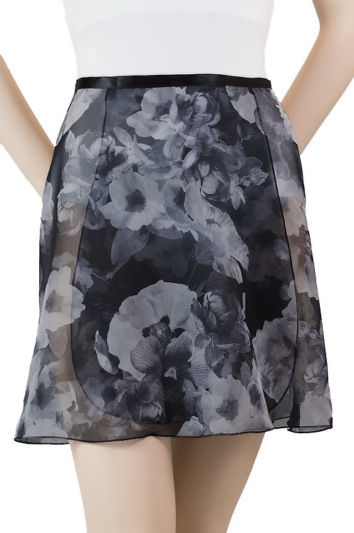 """Trienawear #871 Bourée 16"""" floral wrap ballet skirt - front"""
