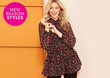 Fashionable women's clothing from Fashion World in sizes 12 - 32. Shop online or order a clothing catalogue with the option for credit to pay later!