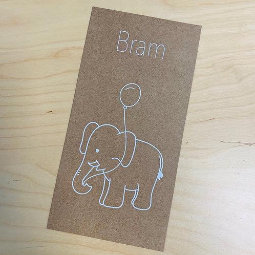 Geboorte kaartje Ollie Kraft 01