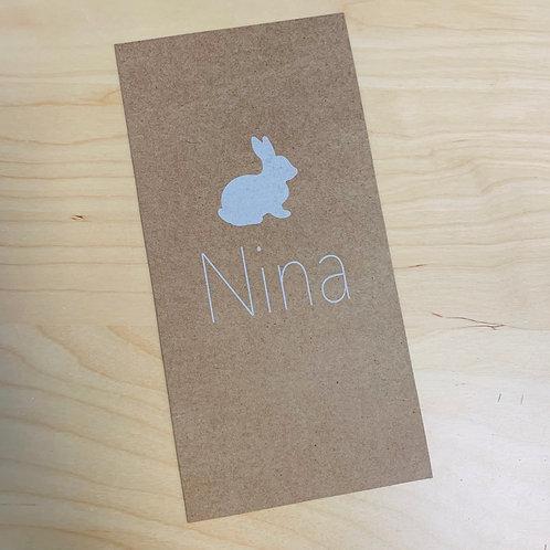 Geboorte kaartje konijn Kraft 01