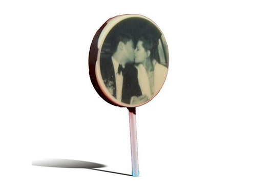 Chocolade lolly Rond met foto