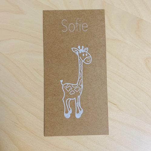Geboorte kaartje Giraffe Kraft 01