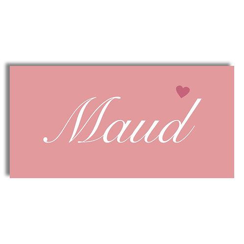 Geboorte kaartje Subtiel roze met hartje