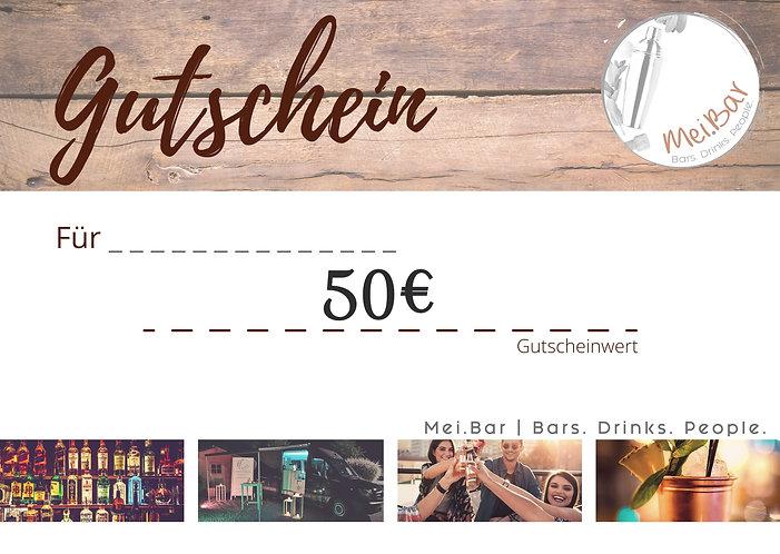 Mei.Bar Gutschein 50€