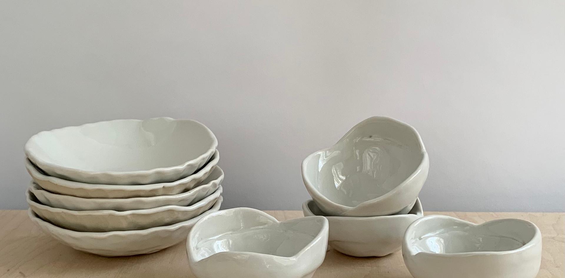 Ice Cream Bowls & Ramekins, Solid Glossy White