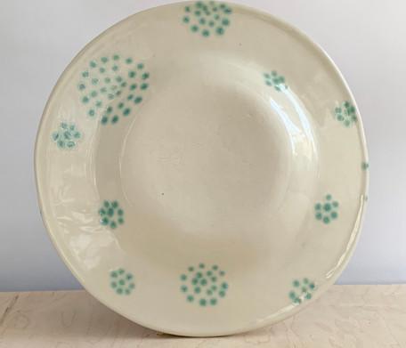 Round, Serving Platter, Nest Circle Dot, Sea Spray
