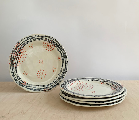 Round, Nest Circle Dots, Coral