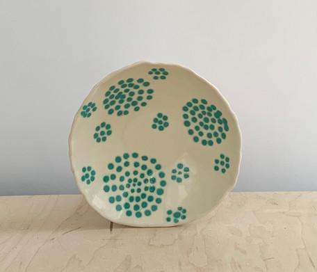 Circle Dots, Teal Mint