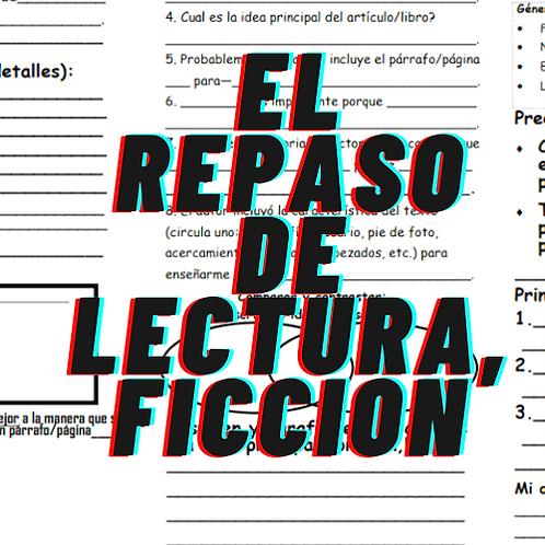 El repaso de lectura,FICCION, Grados 4 a 8