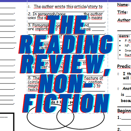 The Reading Review, for Non-Fiction, Grades 4-8
