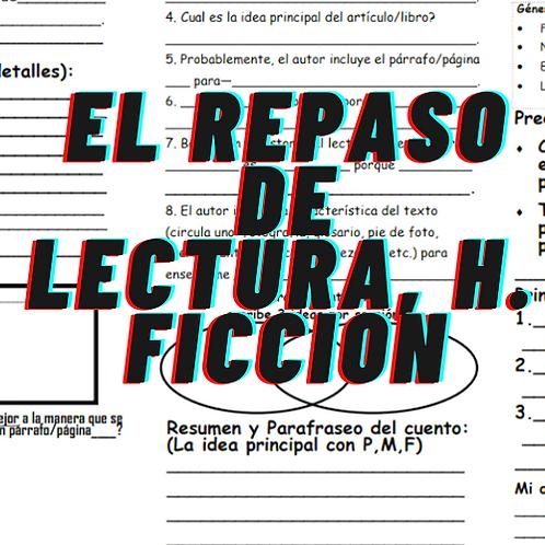El repaso de lectura, h. Ficcion, Differentiated/Diferenciado Grados 2 a 4