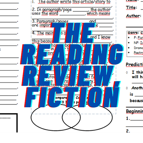 The Reading Review, for Fiction, Grades 4-8