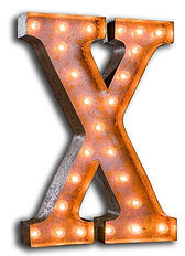 Буква из металла с подсветкой