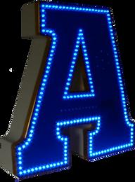 Объемная буква А со светодиодной подсветкой