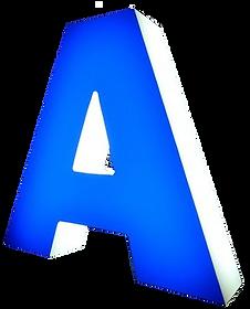 Пластиковая светящаяся объемная буква А